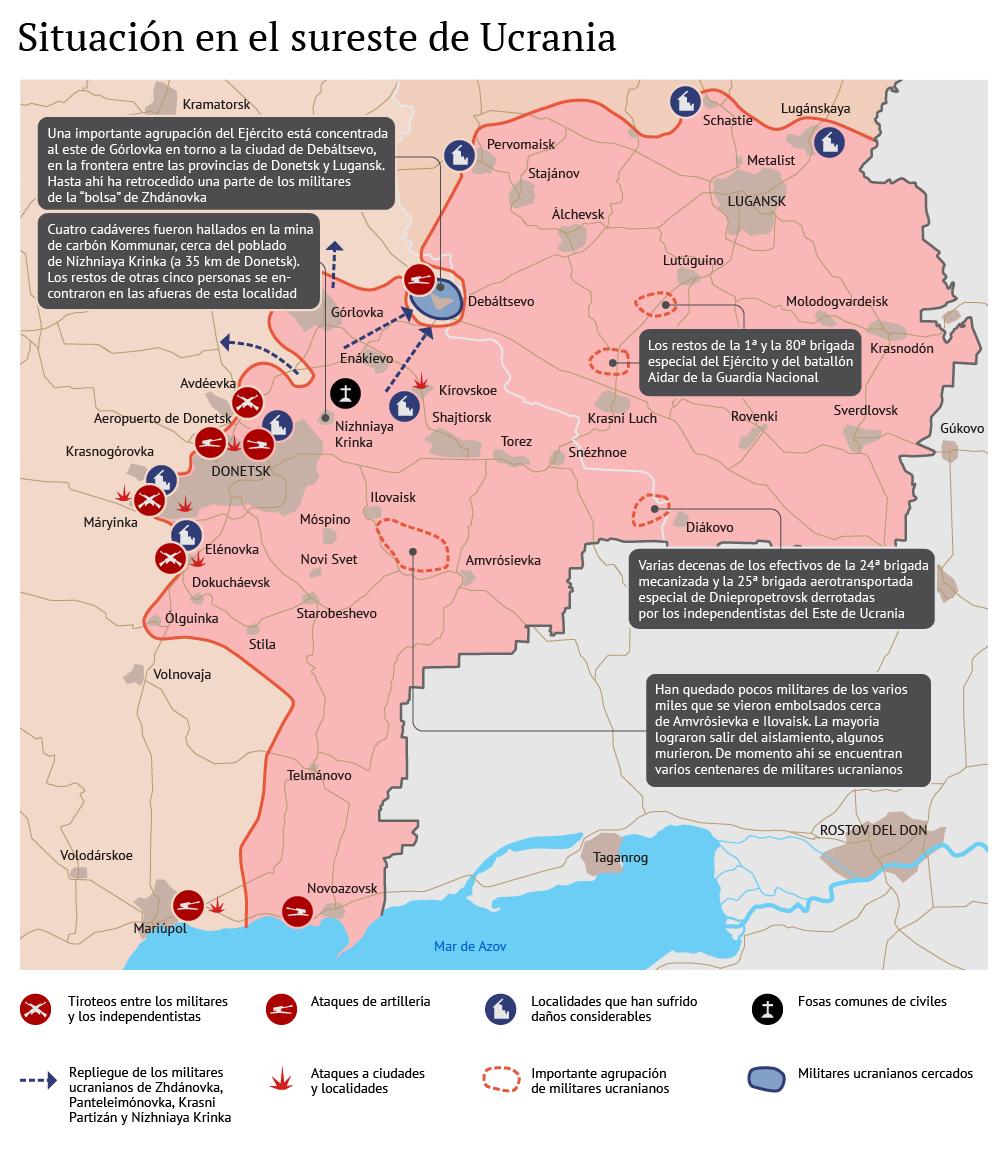 La situación en Donbás tras la firma de la tregua - Sputnik Mundo
