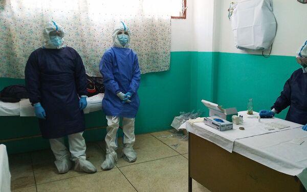 Sala de despistaje de COVID-19 en unas de las instalaciones dentro del cerco epidemiológico - Sputnik Mundo
