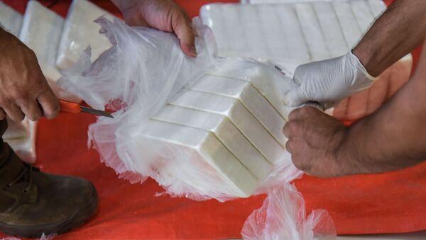 Paquetes de cocaína (imagen referencial) - Sputnik Mundo
