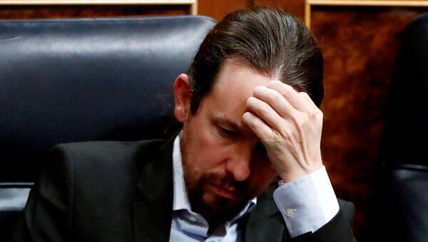 Pablo Iglesias, líder del partido español Unidas Podemos - Sputnik Mundo