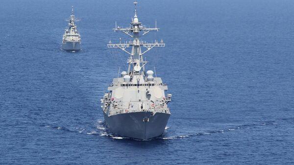 Destructor de EEUU USS Pinckney - Sputnik Mundo