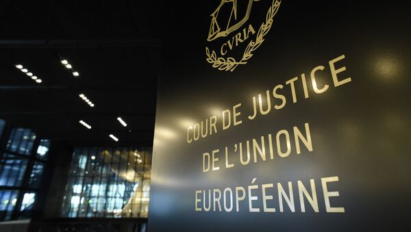 Interior del Tribunal de Justicia de la Unión Europea (Luxemburgo) - Sputnik Mundo