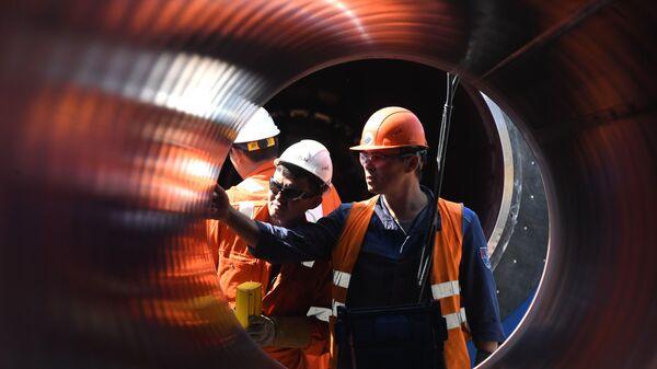 Construcción de Nord Stream 2 - Sputnik Mundo