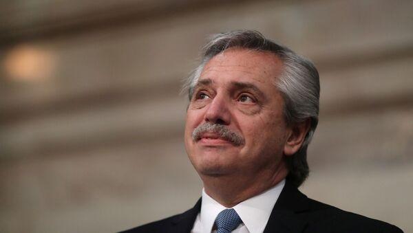 Alberto Fernández, presidente de Argentina - Sputnik Mundo