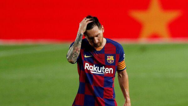 Lionel Messi, jugador del FC Barcelona - Sputnik Mundo
