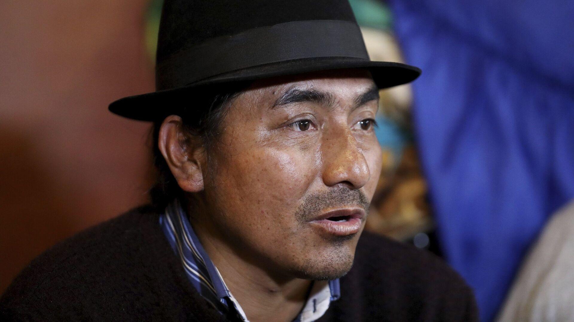 Leonidas Iza, dirigente indígena de Ecuador - Sputnik Mundo, 1920, 05.10.2021