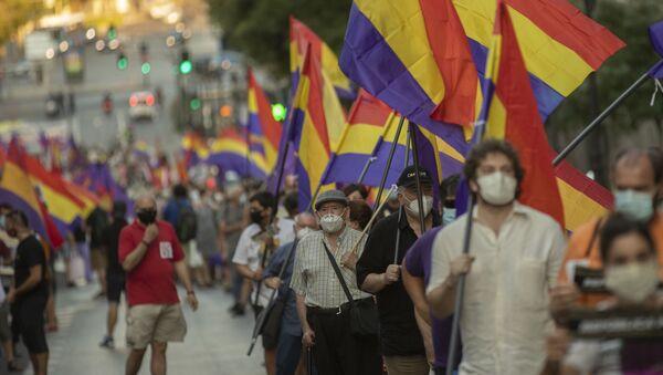 Manifestación en contra de la monarquía en Madrid - Sputnik Mundo