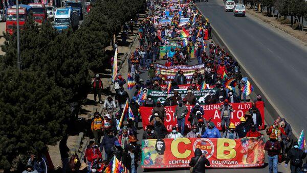 Protestas en La Paz, Bolivia - Sputnik Mundo