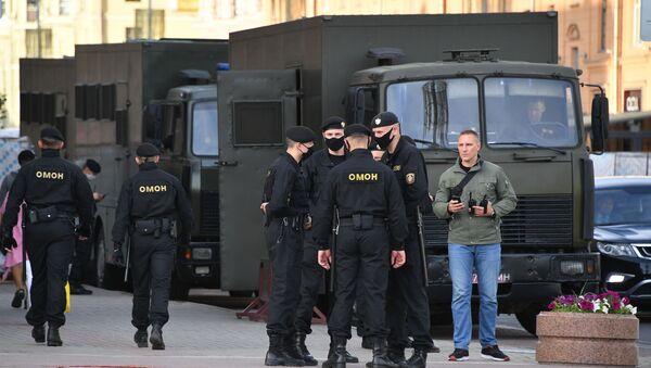 Policía de Bielorrusia (archivo) - Sputnik Mundo