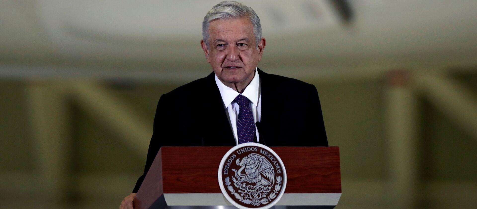 Andrés Manuel López Obrador, presidente mexicano - Sputnik Mundo, 1920, 20.08.2020