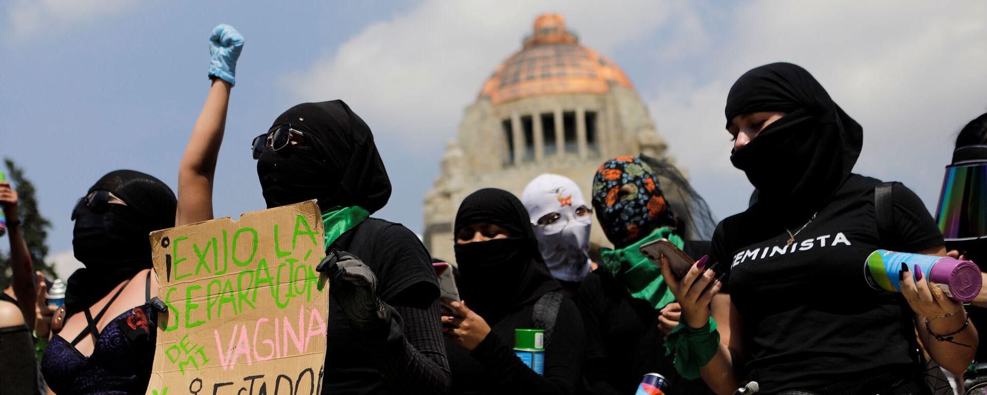 Protesta feminista contra el rechazo a despenalizar el aborto en Veracruz - Sputnik Mundo, 1920, 20.09.2021