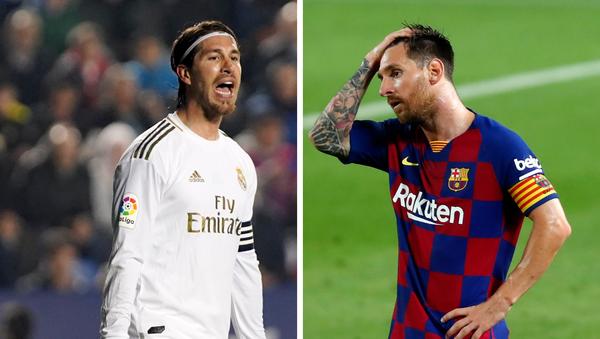 Sergio Ramos, futbolista español, y Lionel Messi, futbolista argentino - Sputnik Mundo