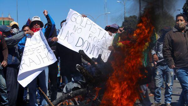 Protestas en Bolivia (Archivo) - Sputnik Mundo