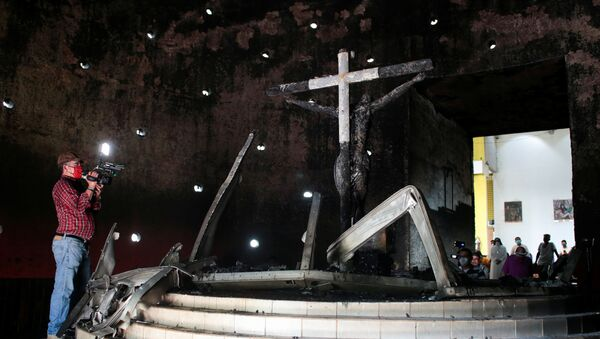 Incendio en catedral de Managua - Sputnik Mundo