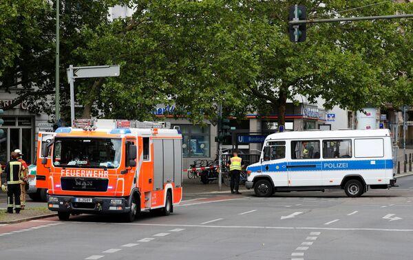 Situación en el lugar del ataque al banco en Berlín  - Sputnik Mundo