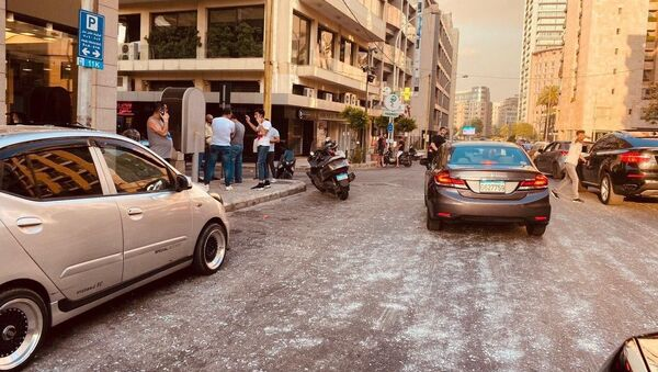 Las consecuencias de la explosión en Beirut - Sputnik Mundo