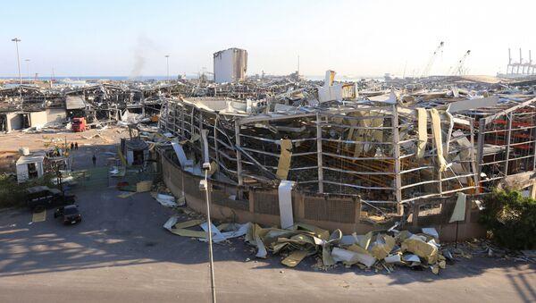 Consecuencias de la explosión en el puerto de Beirut del Líbano - Sputnik Mundo