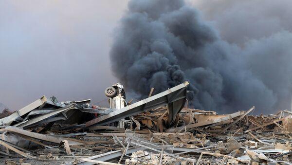 Efectos de la explosión en Beirut - Sputnik Mundo