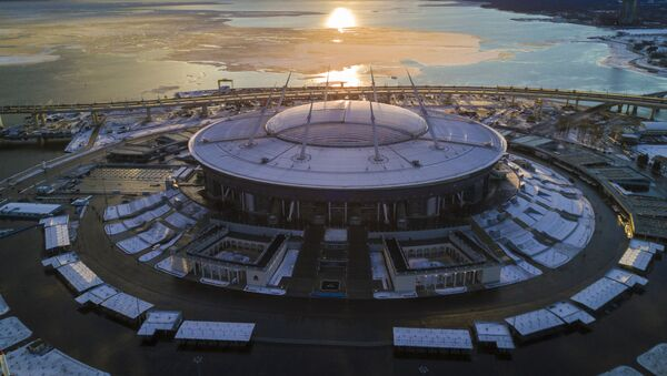 El estadio Gazprom Arena en San Petersburgo - Sputnik Mundo