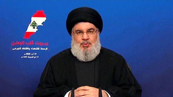 Hasán Nasralá, el líder del movimiento chií libanés Hizbulá - Sputnik Mundo