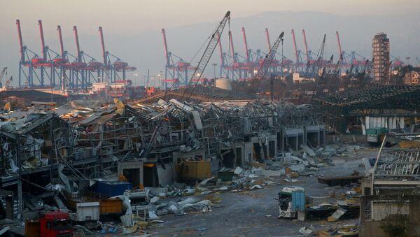 La zona portuaria de Beirut después de la explosión - Sputnik Mundo