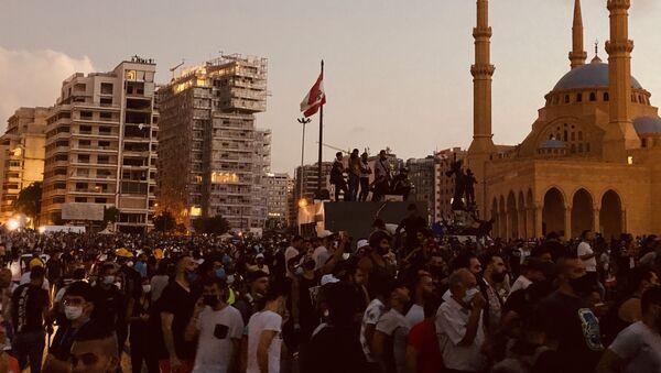 Protestas antigubernamentales en El Líbano - Sputnik Mundo