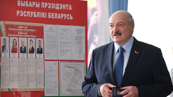 Alexandr Lukashenko, presidente de Bielorrusia, en las elecciones presidenciales - Sputnik Mundo