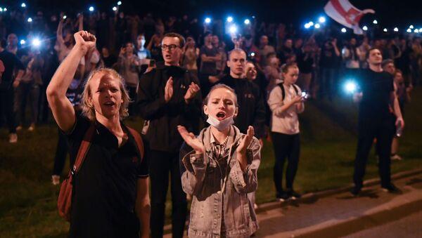Protestas poselectorales en Bielorrusia - Sputnik Mundo