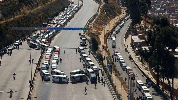 Bloqueos de carreteras en El Alto, Bolivia - Sputnik Mundo