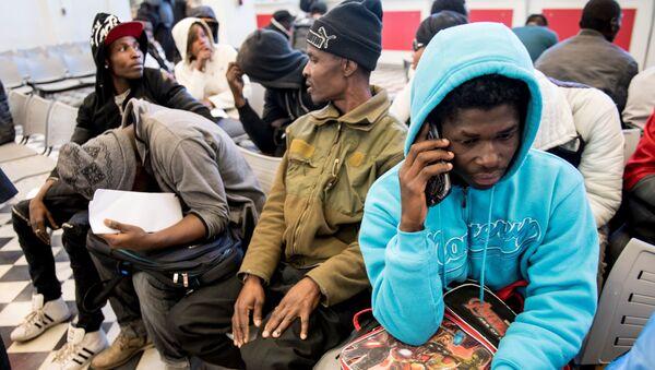 Migrantes haitianos en Chile - Sputnik Mundo