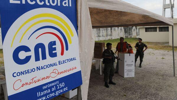Logo del Consejo Nacional Electoral (CNE) de Ecuador - Sputnik Mundo