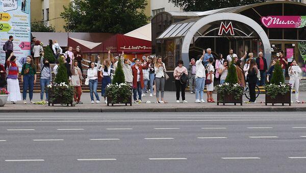 Las manifestaciones de protesta en Bielorrusia - Sputnik Mundo