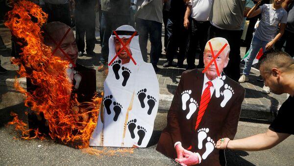 Protestas contra el acuerdo de paz entre Israel y Emiratos Árabes Unidos - Sputnik Mundo