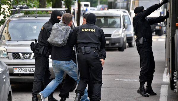 Arrestos durante las manifestaciones antigubernamentales en Bielorrusia - Sputnik Mundo