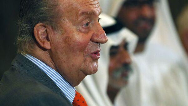 El rey emérito de España, Juan Carlos I, en el Foro Económico EAU-España en el hotel Emirates Palace en Abu Dhabi. - Sputnik Mundo