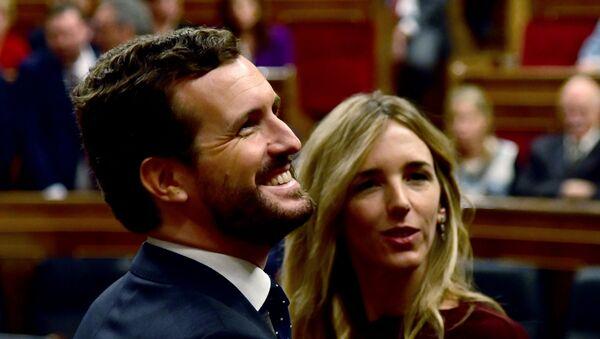 Pablo Casado y Cayetana Álvarez de Toledo en el Congreso de los Diputados - Sputnik Mundo