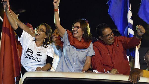 Jacqueline Faría (centro), nueva jefa de Gobierno del Distrito Capital de Venezuela - Sputnik Mundo