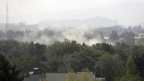 Las consecuencias del lanzamiento de cohetes en Kabul, Afganistán - Sputnik Mundo