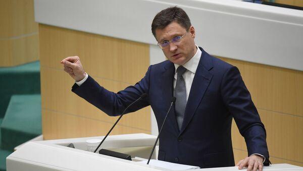Alexandr Nóvak, ministro de Energía ruso - Sputnik Mundo