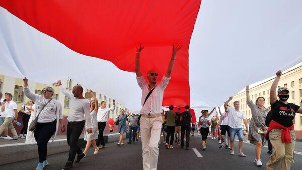 Manifestaciones de protesta en Bielorrusia - Sputnik Mundo