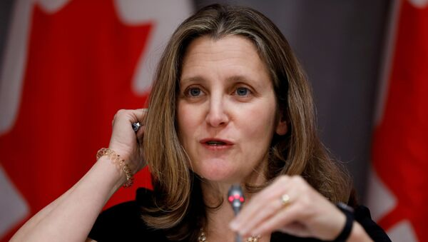 Nueva ministra de finanzas de Canadá, Chrystia Freeland - Sputnik Mundo