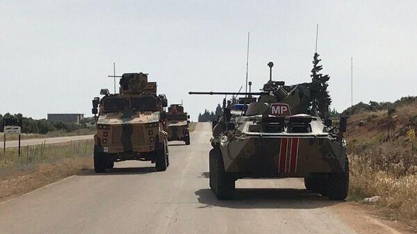 Un patrullaje conjunto de Rusia y Turquía en la provincia siria de Idlib - Sputnik Mundo