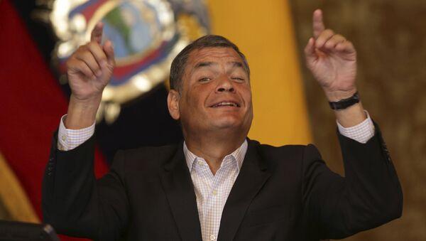 Rafael Correa, candidato a la vicepresidencia de Ecuador - Sputnik Mundo