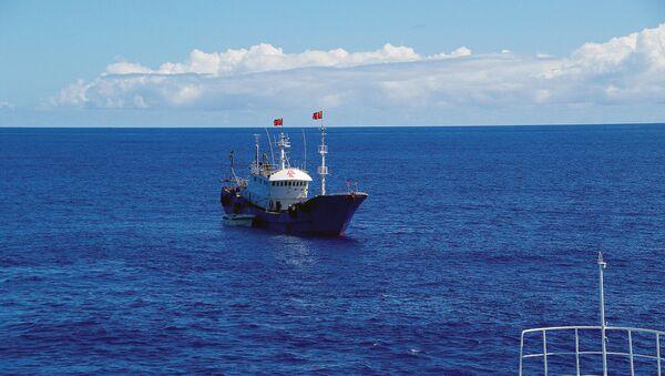 Buque pesquero chino (imagen referencial) - Sputnik Mundo