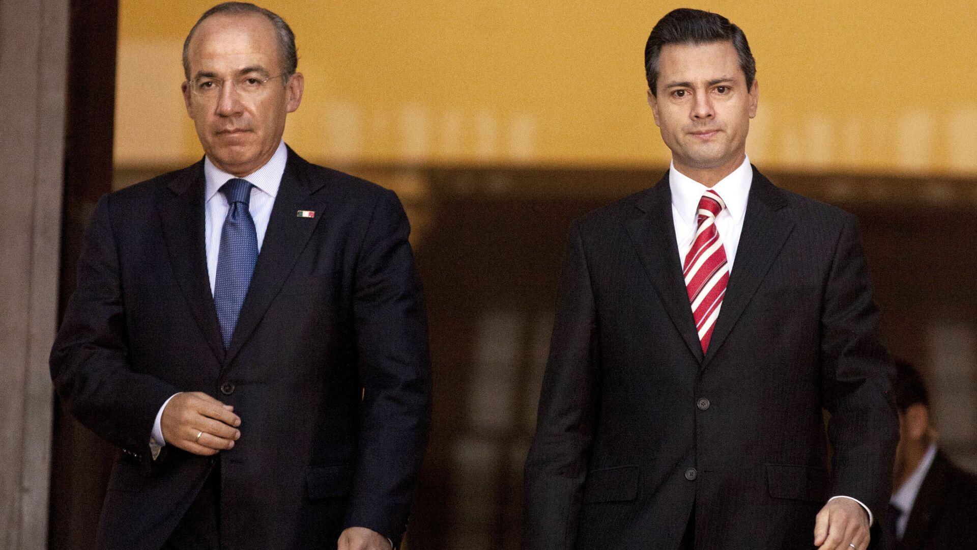 Felipe Calderón Hinojosa y Enrique Peña Nieto, expresidentes de México - Sputnik Mundo, 1920, 27.08.2021