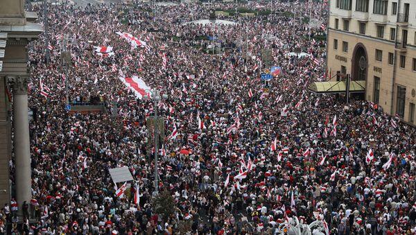 Protesta en Minsk - Sputnik Mundo