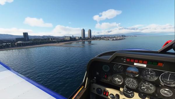 Vista de Barcelona desde Flight Simulator 2020 - Sputnik Mundo