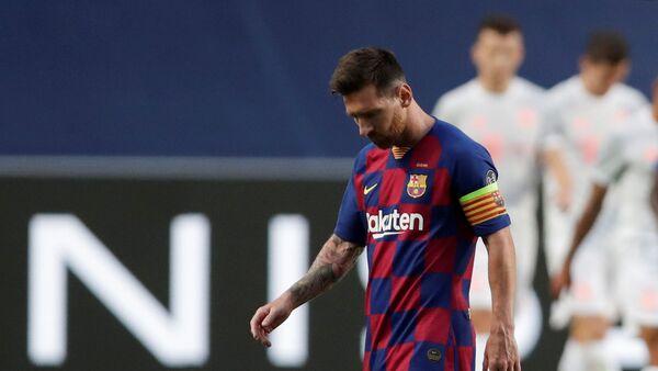 Leo Messi durante los cuartos de final de la Liga de Campeones ante el Bayern Munich  - Sputnik Mundo