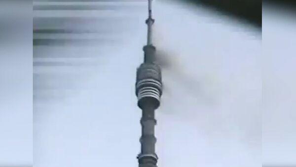Cómo se incendió la torre de televisión Ostánkino en Moscú - Sputnik Mundo