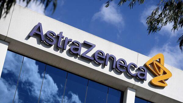 Logo de la compañia farmacéutica AstraZeneca - Sputnik Mundo